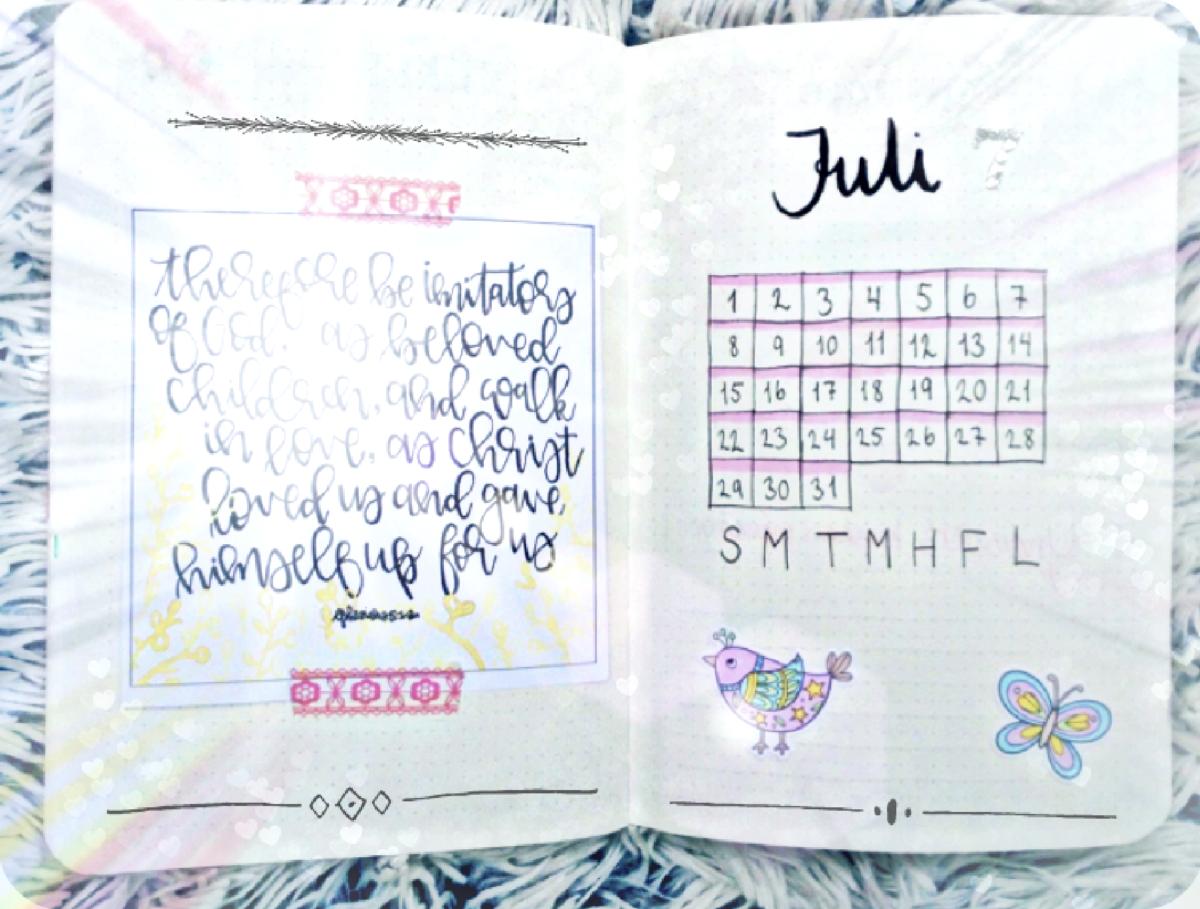BULLET JOURNAL – JULI 2018