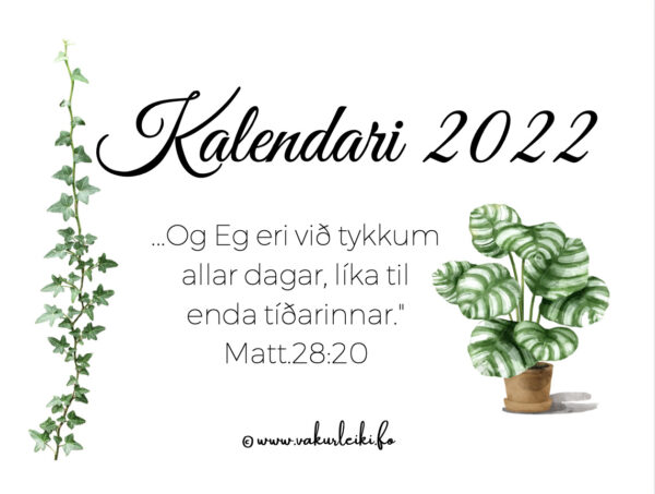 Kalendarin 2022 preview